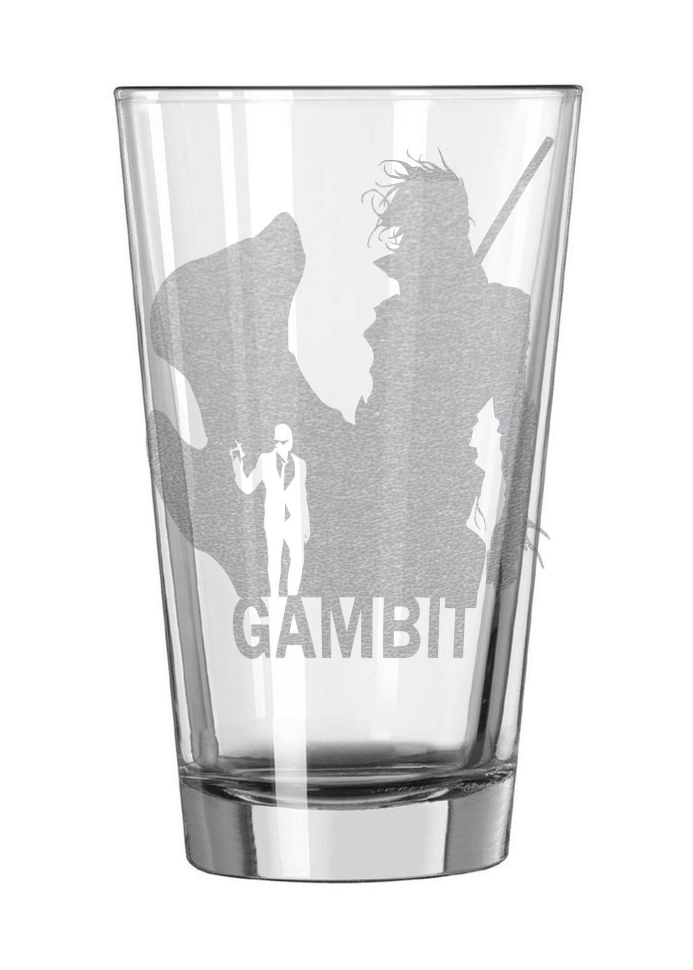 Gambit X-men Pint Glass
